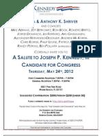 Salute to Joseph P Kennedy, III