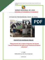 Mejoramiento de La Cadena Productiva de Ganado Vacuno Productora de Leche en Las Provincias de Huaura y Barranca