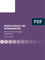 Iran's Policy on Afghanistan