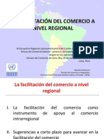 CEPAL (2011) PRESENTACIÓN - La Facilitación de Comercio a Nivel Regional
