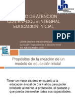 Modelo de Atencion Con Enfoque Integral Educacion Inicial