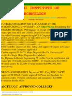 Information Brochure -Cum-Application Form