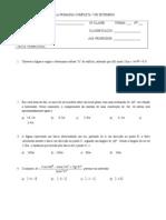 Teste Trimestral 10a Classe (III Trimestre)