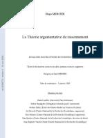 La Theorie Argumentative Du Raisonnement