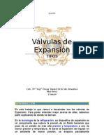 Valvulas de Expansion TIPOS