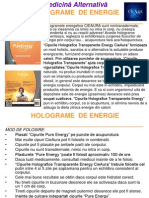 Holograme de Energie