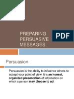 1 Preparing Persuasive Messages