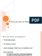 1 the Lost Art of Feedback