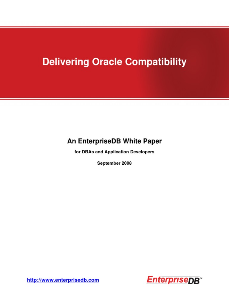 Oracle Compatibility White Paper[1] | Postgre Sql (56 views)