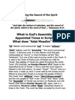 Appointed Times - Defined as Gods Holy Feast Days Starting From Genesis