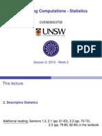 Lecture 2 stats cven2002