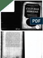 CANCLINI- Culturas Hibridas. Estrategias Para Entrar y Salir de La Modernidad.