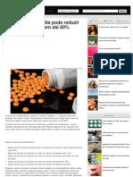 Uma aspirina por dia pode reduzir o risco de câncer em até 60%