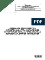 NRF-295-PEMEX-2013 Sist de Recub Anticorr Para Instal Superf de Plataformas Marinas