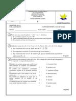 Examen de Geometria Analitica