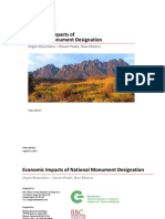Organ Mountains Desert Peaks - FINAL REPORT on Economic Impacts of 