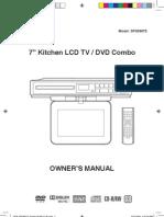 Rca 7 in. Kitchen Lcd-tv-dvd Combo - Model Sps36073-Sps36073 Mfg 8-2009