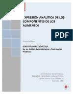 Notas de Expresion Analitica de Los Componentes de Los Alimentos 2008