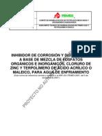 Proy-NRF-201-PEMEX-2007  30-11-2012 Inhibidor de corrosión y dispersante a base de mezcla de fosfatos orgánicos
