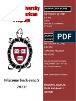 2013 Welcome Back Events, Harvard University Native American Program