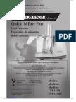 Black & Decker Food Processor Manual FP1450