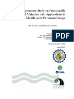 An Exploratory Study on Funtionally Graded Materials With Applications to Multilayered Pavement Design