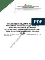 Proy-NRF-200 15-2-2013 Polímeros floculante a base de acrilamida y coagulante a base de hidroxicloruro de aluminio
