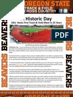 OSU Track & Field Newsletter - First Meet in 25 Years!