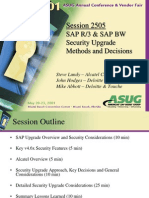 Asug 2001 SAP R3 SAP BW Security Upgrade