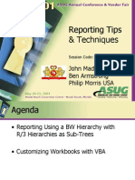 Asug 2001 Reporting Tips & Techniques