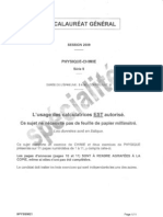 BAC Physique-Chimie-Specialite 2009 S