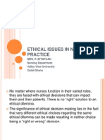 Ethical Issues in Nursing Practice