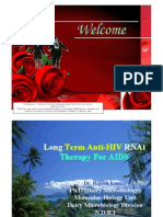 Long Term Anti-HIV RNAi Therapy
