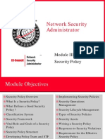 Module 03- Security Policy