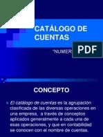 CATÁLOGO DE CUENTAS NUMERICO