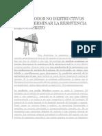 TRES MÉTODOS NO DESTRUCTIVOS PARA DETERMINAR LA RESISTENCIA DEL CONCRETO