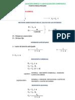 Formulas Capitalizacion Simple y Capitalizacion Compuesta