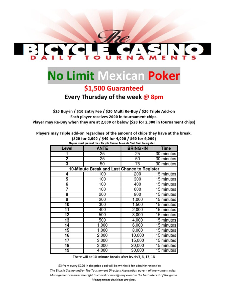 Mexican poker bicycle win money in vegas