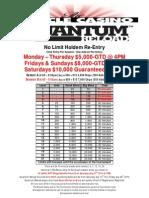 Quantum Reload - NLH Re-Entry Tournament
