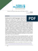 Mensaje de ONU Mujeres, COMEXI, Junio 2013