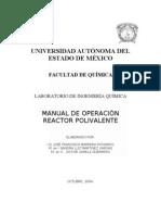 Manual de operación reactor polivalente
