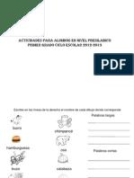 Actividades Por Niveles 2012-2013