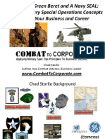 Applying Military Special Operations Concepts to Grow Your Business and Career