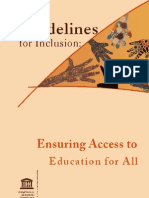 Guidelines for Inclusion 2005