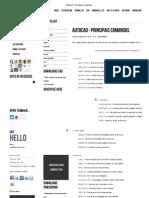 Autocad - Principais comandos