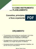 2.1 Orçamento como instrumento do planejamento governamental.