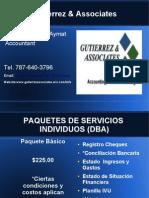 Paquetes de Servicios para Individuos (DBA)