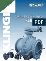 SAIDI Klinger Valvulas de Bola