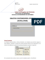 Tema 8 Objetos JPanel JScrollPanel