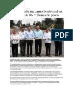 04-09-2013 Puebla on Line - Moreno Valle Inaugura Boulevard en Xicotepec de 86 Millones de Pesos